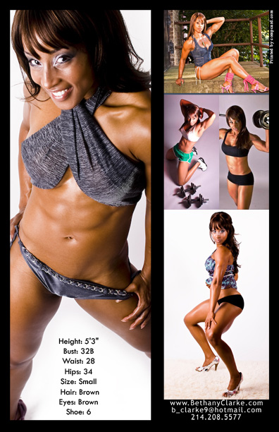 Fitness Model Comp Card Layout