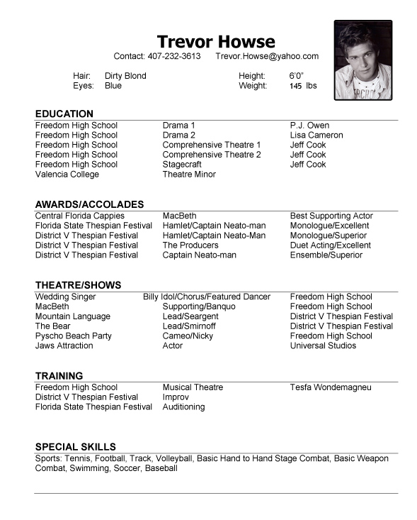 sample resume modeling resume template baseball coach
