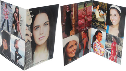 Folding Comp Cards and Custom Sizes Comp Card